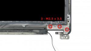 Remove the 3 - M2.5 x 3.5mm screw.