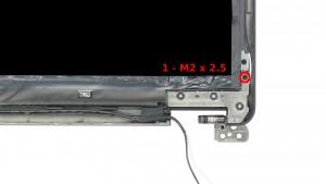 Remove the 1 - M2 x 2.5mm screw.