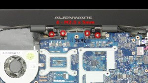 Remove the 4 - M2.5 x 5mm hinge screws.