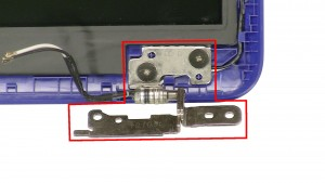 Remove the right LCD HInge.