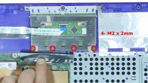 Remove the 4 - M2 x 2mm screws.