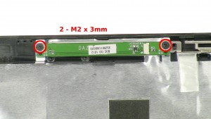 Remove the 2 - M2 x 3mm screws.