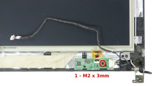 Remove the 1 - M2 x 3mm screw.