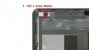 Remove the 2 - M2 x 2mm Wafer top rail screws.