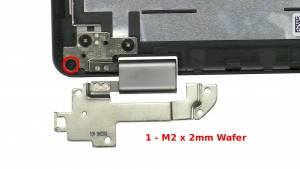 Remove the 2 - M2 x 2mm Wafer bottom rail screws.