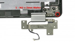 Remove the 2 - M2 x 2mm Wafer bottom rail screws.