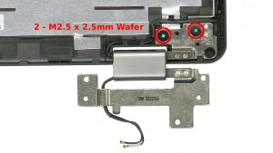 Remove the 4 - M2.5 x 2.5mm Wafer hinge screws.