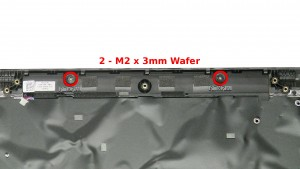 Remove the 2 - M2 x 3mm Wafer screws.