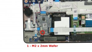 Remove the 1 - M2 x 2mm Wafer screws.