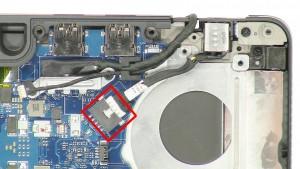 Unplug the DC jack cable.