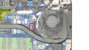Unplug the fan cable.