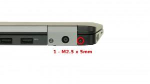 Remove the 2 - M2.5 x 5mm back hinge screws.