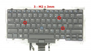 Remove the 3 - M2 x 3mm keyboard screws.