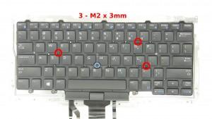 Remove the 3 - M2 x 3mm keyboard screws.