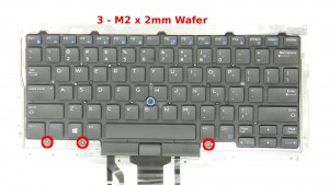 Remove the 3 - M2 x 2mm Wafer bottom keyboard screws.