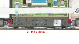 Remove the 2 - M2 x 3mm screws.