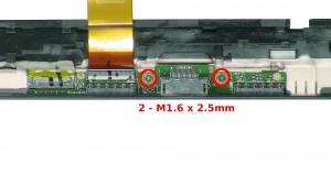 Remove the 2 - M1.6 x 2.5mm screws.