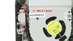 Remove the 2 - M2.5 x 6mm screws.
