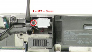 Remove the 1 - M2 x 3mm bracket screw.