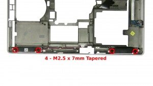 Remove the 2 - M2.5 x 7mm Tapered speaker screws.