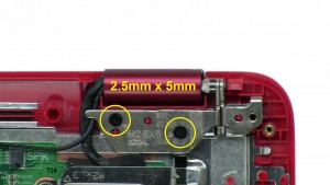 Unscrew hinges and remove LCD Display Assembly (4 x