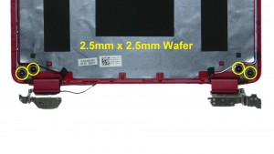 Unscrew and remove LCD Hinge Rails (4 x