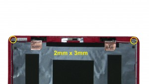 Use fingers to separate back from LCD Screen.