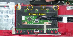 Unscrew and remove Touchpad.