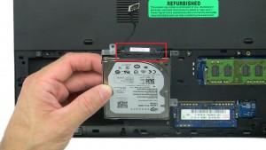 Unplug hard drive connector.