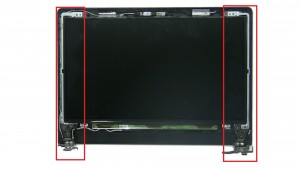 Unscrew and remove LCD Hinge Rails (6 x