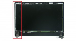Unscrew and remove LCD Hinge Rail (3 x