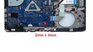 Unscrew and remove motherboard (1 x M2 x 3mm).