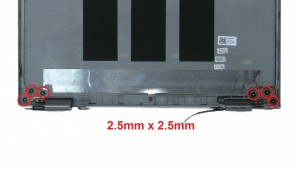 Unscrew and remove LCD Hinge Rails (2 x