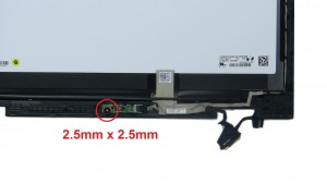 Unscrew and remove LCD sensor board (1 x M2.5 x 2.5mm wafer).