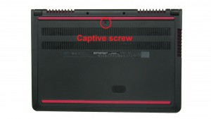 Unscrew and remove Access Door (Captive screws).