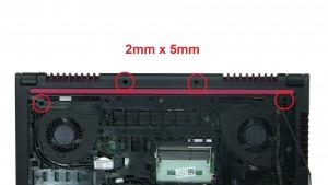 Remove bottom base screws (4 x M2 x 5mm).