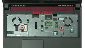 Remove palmrest screws (2 x M2.5 x 5mm).