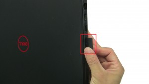 Use finger to press in a release SD Card.