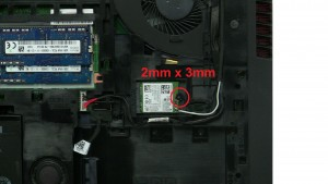 Unscrew and remove WLAN Card (1 x