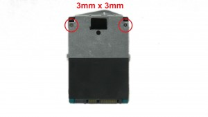 Unscrew and slide out Hard Drive (1 x