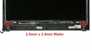 Unscrew and remove hinge rails (6 x M2.5 x 2.5mm wafer).