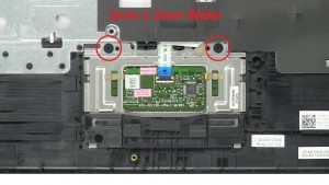 Unscrew and remove Touchpad (2 x