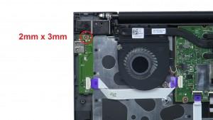 Unscrew and remove circuit board (1 x M2 x 3mm).