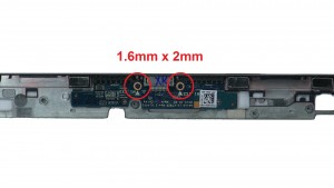Unscrew and remove docking connector circuit board (2 X 1.6mm x 2mm).