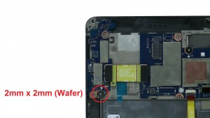 Unscrew and remove Power Button / Micro SD Card Circuit Board (1 x M2 x 2mm wafer).