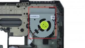 Unscrew and remove GPU Fan (2 x