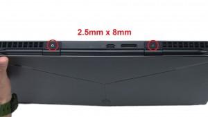 Remove rear hinge screws (2 x M2.5 x 8mm).