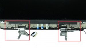 Unscrew and remove LCD Hinges (6 x