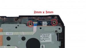 Unscrew and remove Status Light Circuit Board (2 x