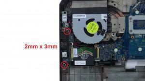 Unscrew and remove USB / Audio Circuit Board (2 x